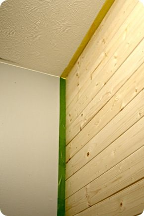 DIY wood planked wall | For the Home | Wood plank walls
