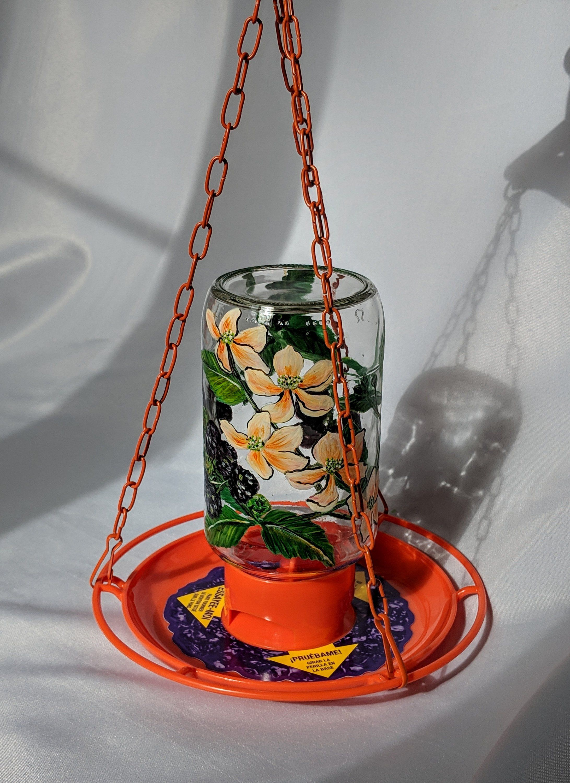 Unique handmade hummingbird feeder by MichellesKorner on