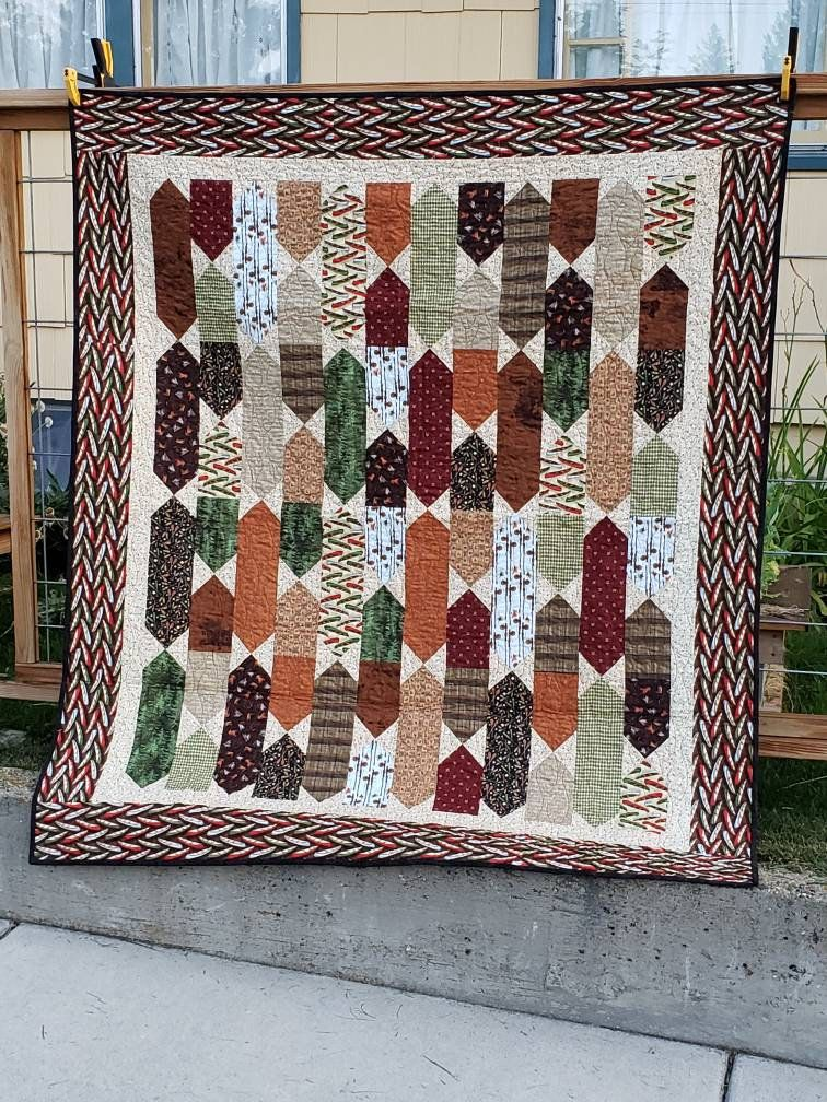 Fly Fishing Lap Sized Quilt Handmade In Montana Fishing Etsy Quilts Fish Quilt Quilting Designs