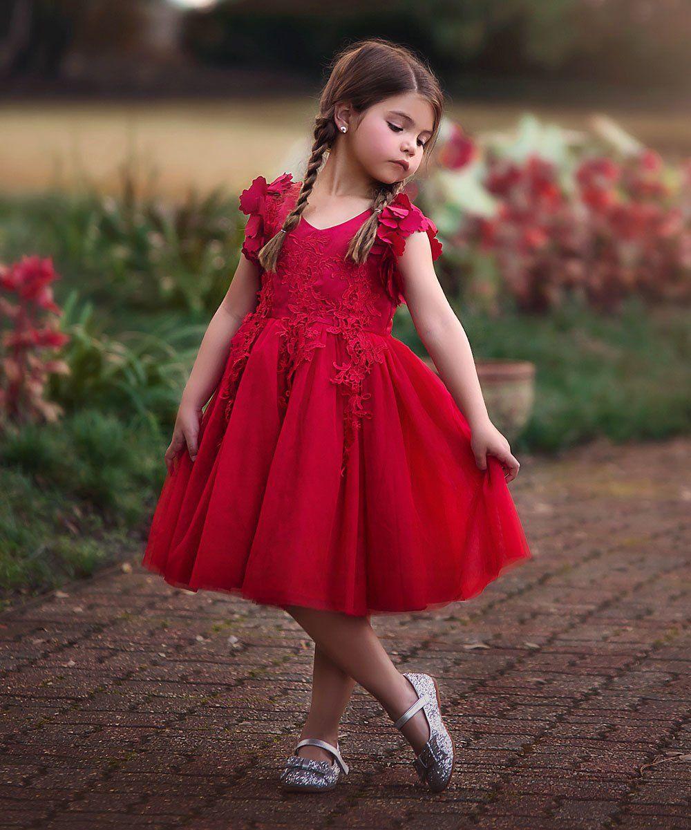 17++ Red toddler dress info