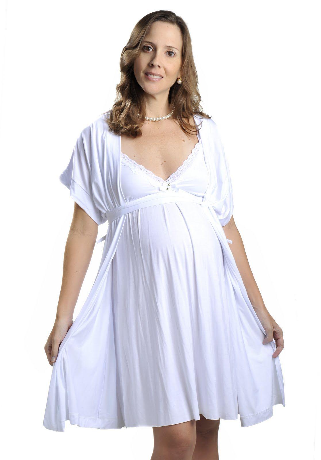 Como Escolher a Camisola para a Maternidade  956bede632324