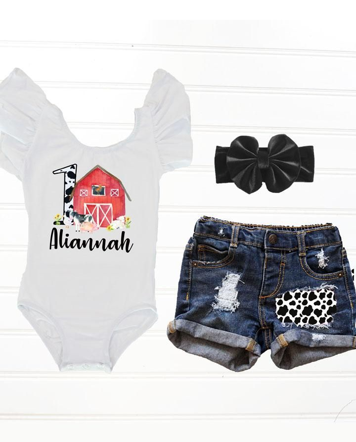 Red Barnyard Birthday Outfit