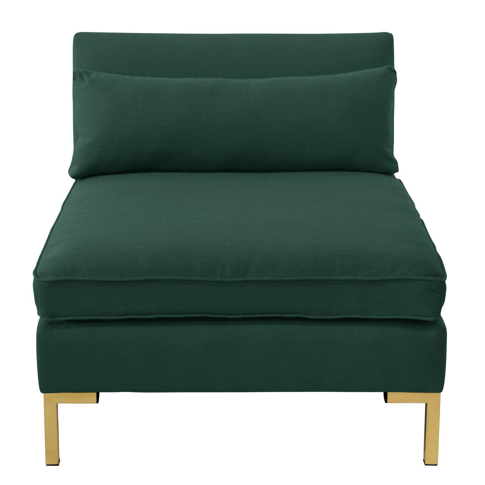 Armless sectional sofa designlovefest linen accent