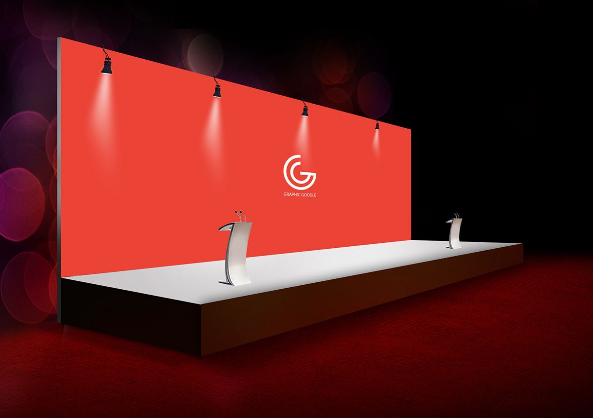 Exhibition Stand Mockup Psd Free : Free event expo backdrop mockup psd dribbble graphics banner