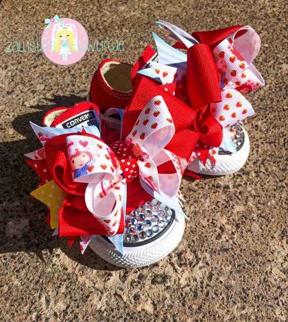 Strawberry Shortcake Converse Strawberry Strawberry Etsy