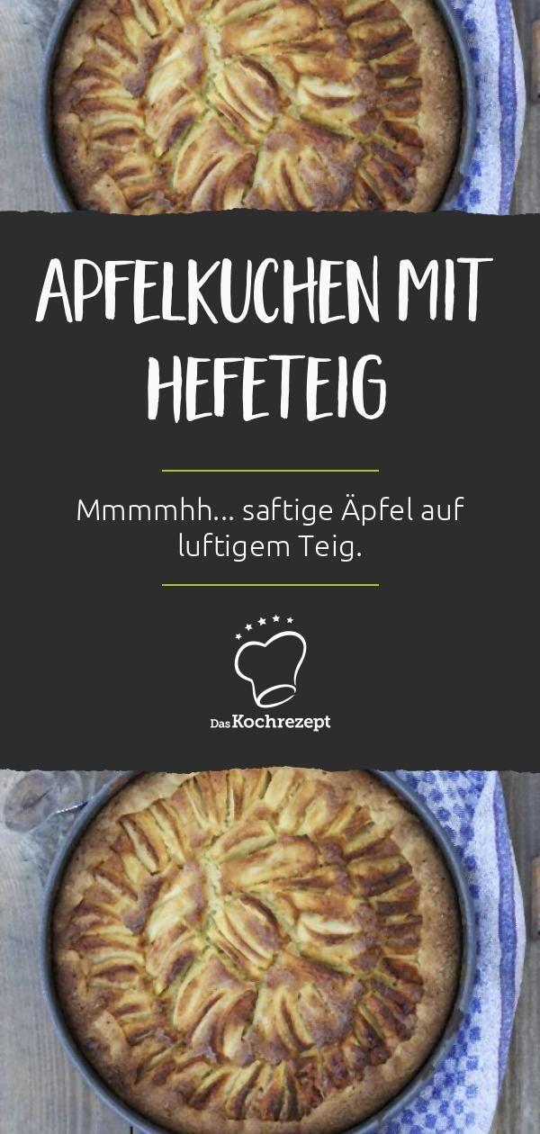 Veganer Apfelkuchen mit Hefeteig