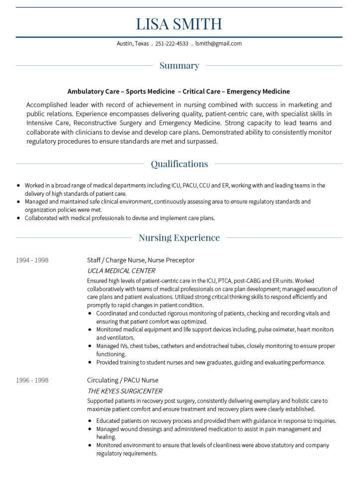Cv Template For Over 40 Resume Format Medical Resume Template Medical Resume Cv Template