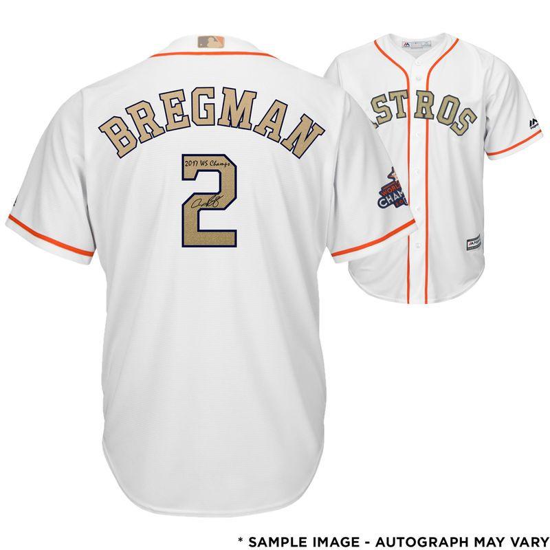 the latest 2326b e2d16 Alex Bregman Houston Astros Fanatics Authentic Autographed ...