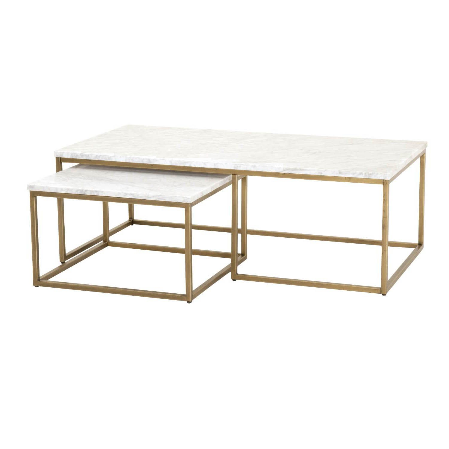 Carrera Nesting Coffee Table Nesting Coffee Tables Gold Coffee