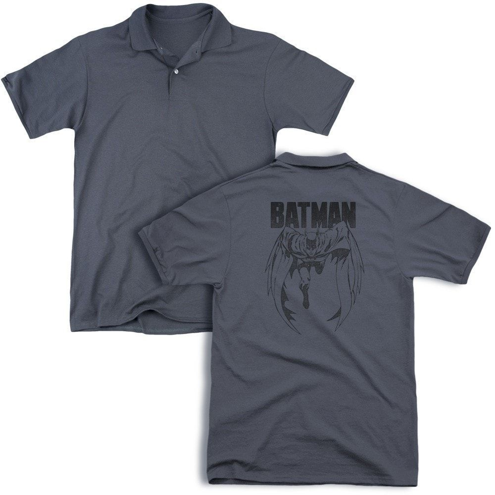 Batman Grey Noise Adult Polo Shirt