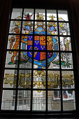 Stained Glass - Court Room at Apothecaries Hall, London
