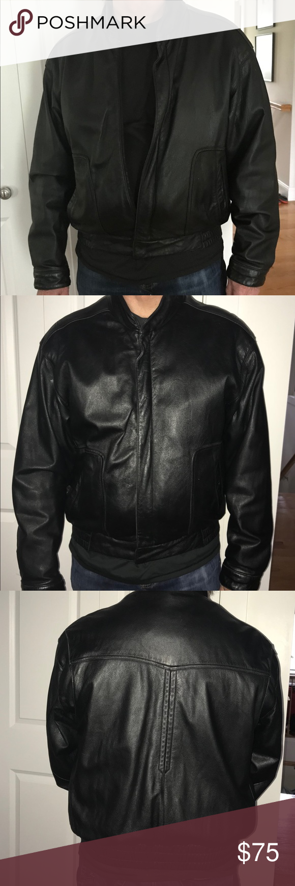 Reed Leather Bomber Jacket This Is A Gently Worn Black Reed Leather Bomber Jacket With A Thinsulate Zip Out Clothes Design Leather Bomber Jacket Wearing Black [ 1740 x 580 Pixel ]