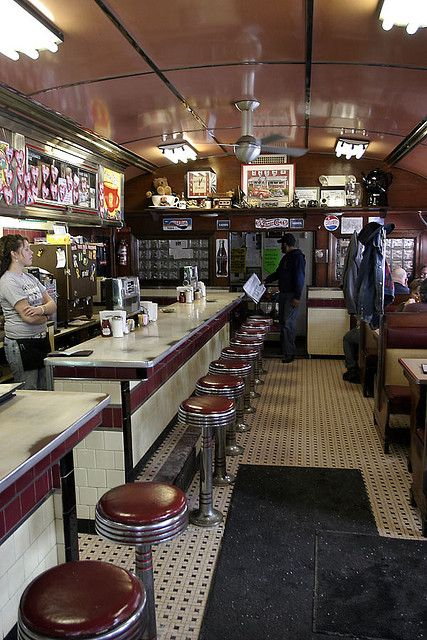 Four aces diner interior diners and drive ins dives