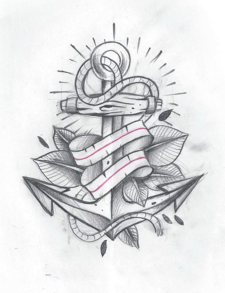 Anchor And Ribbon Tattoo Google Search Tattoos Pinterest