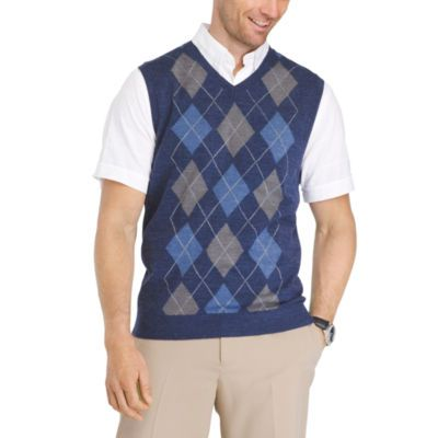 FREE SHIPPING AVAILABLE! Buy Van Heusen Argyle Sweater Vest V Neck ...