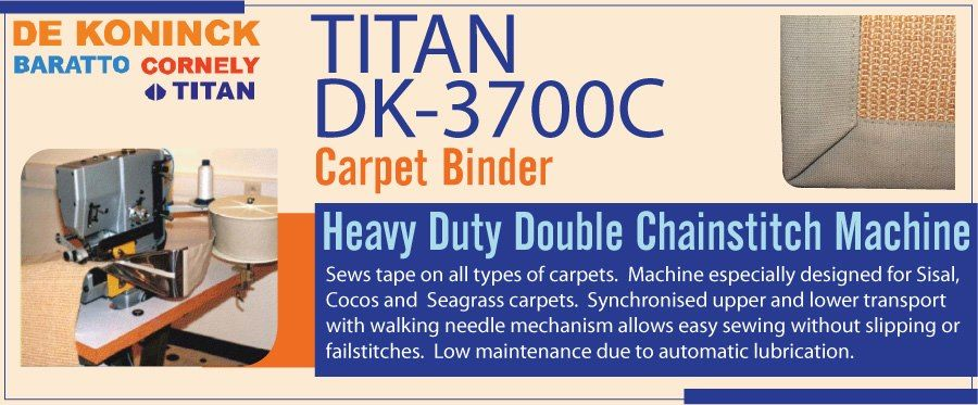 TITAN DK3700C, Carpet Binder Heavy duty double chain