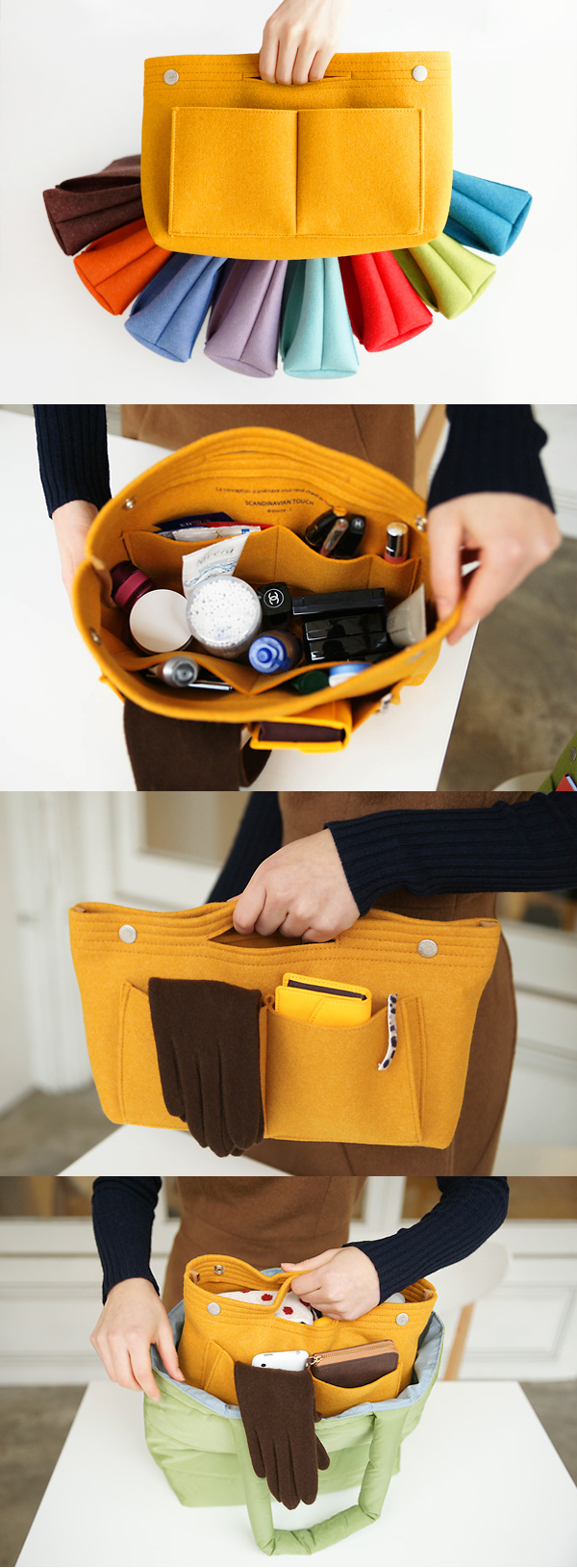 The best way to organize your cluttery mess of a bag is