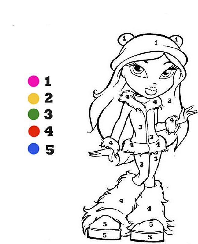 ausmalbild Zahlen mit Farben | Ausmalbilder, die ich mag ...