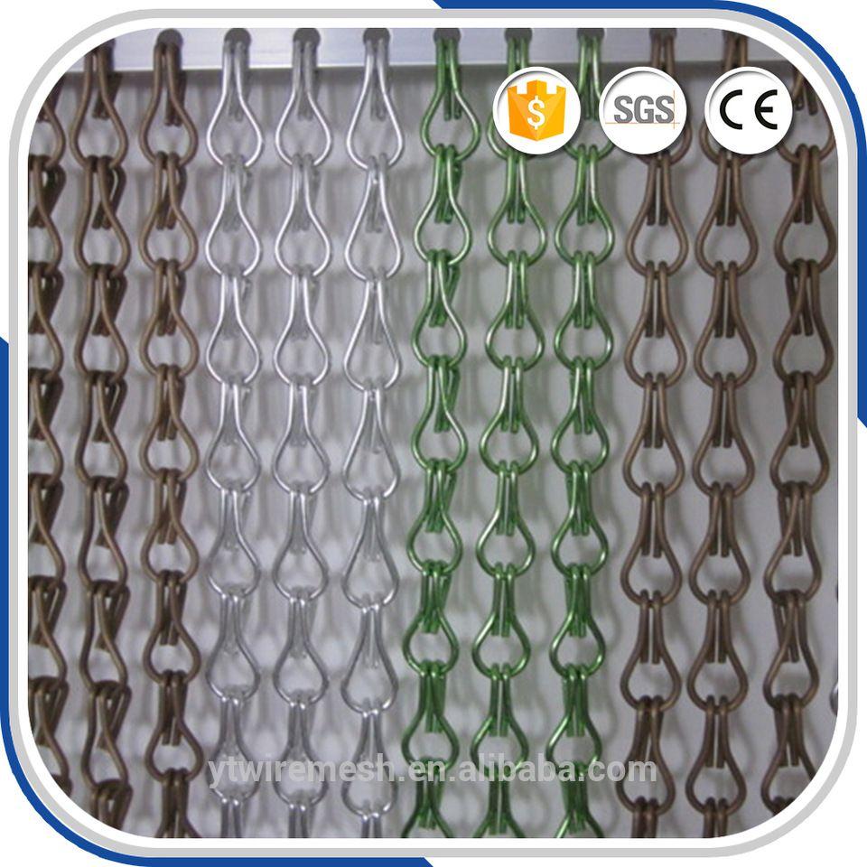 Goldsilver Aluminium Metal Chain Fly Pest Insect Door Screen