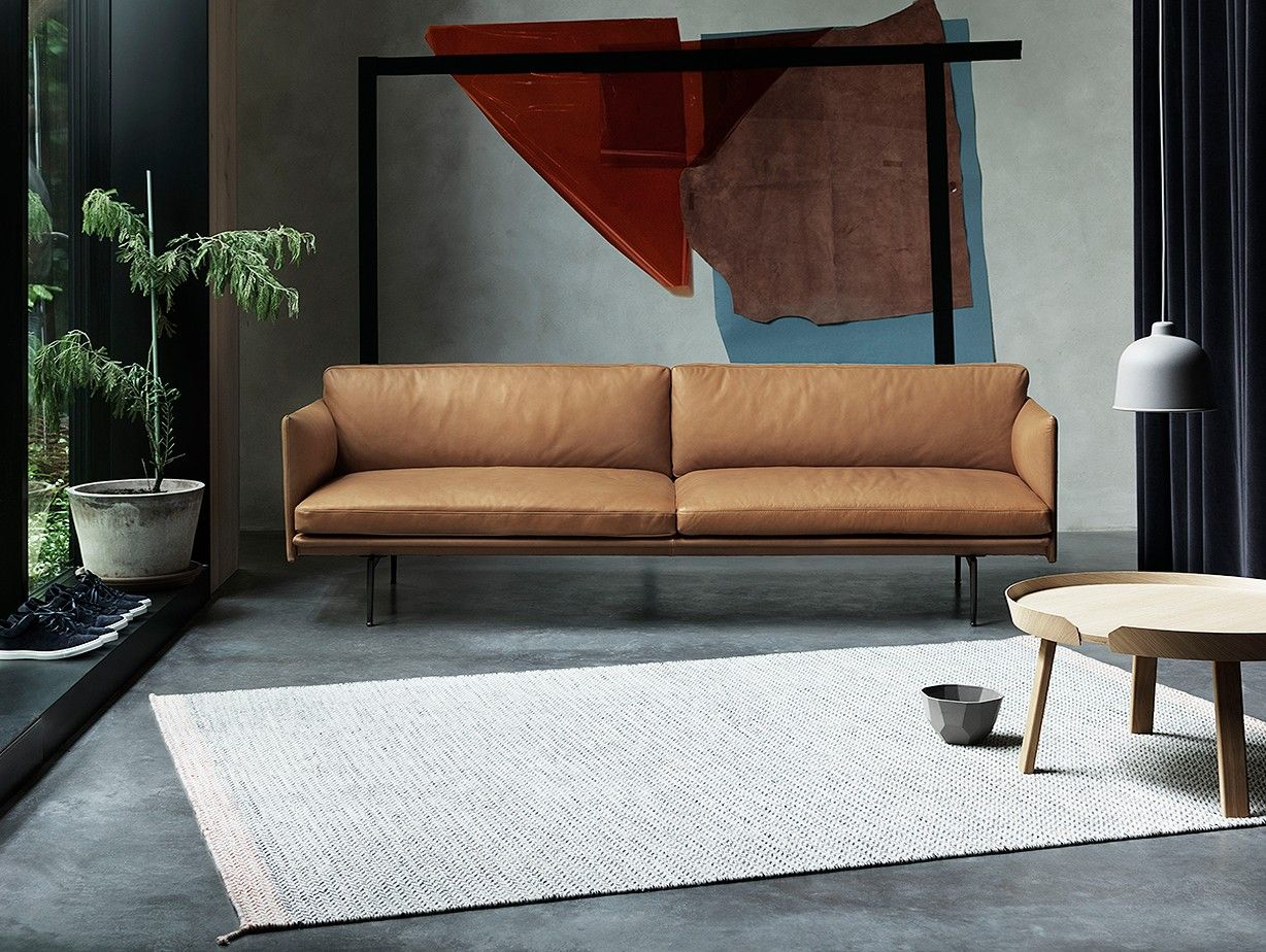Muuto Outline Sofa, 3 Seater Cognac Leather | sofa | Pinterest ...