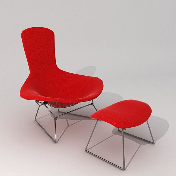 """the """"bird"""" chair, designed by harry bertoia, for knoll. i own one"""