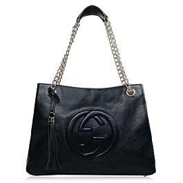 e5c475479 Gucci Soho Leather Tote 308982 Black   Handbags, Shoes Galore& ...