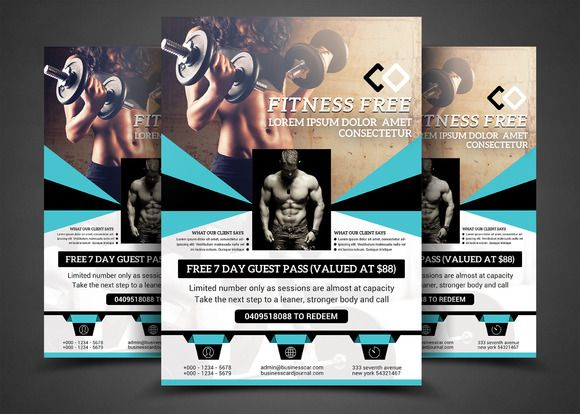 Fitness Flyer  Gym Flyer By Afzaalgraphics On Creativemarket