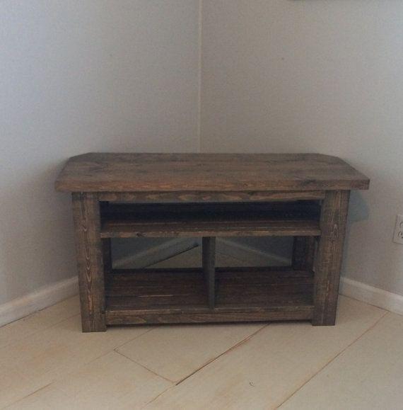 42 Rustic Corner TV StandConsole Wood Console Table Corner