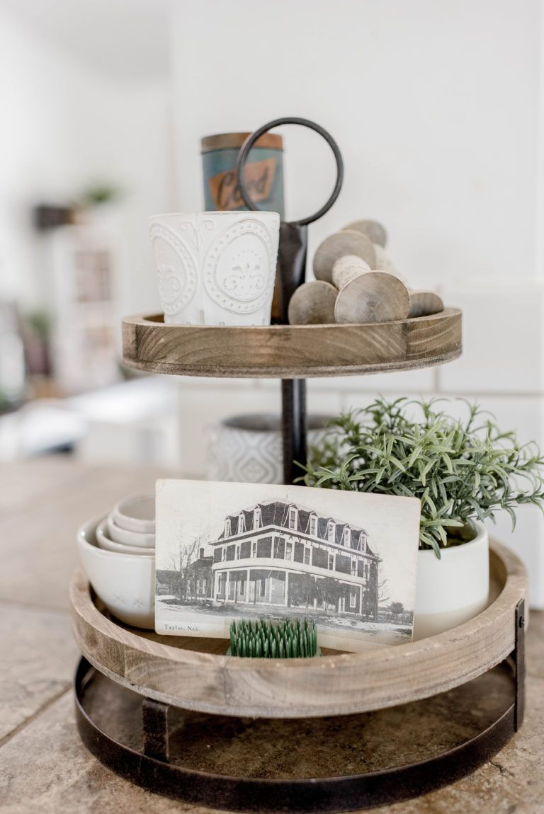 How To Decorate A 3 Tier Tray Photos Tray Decor Decor Farmhouse Decor