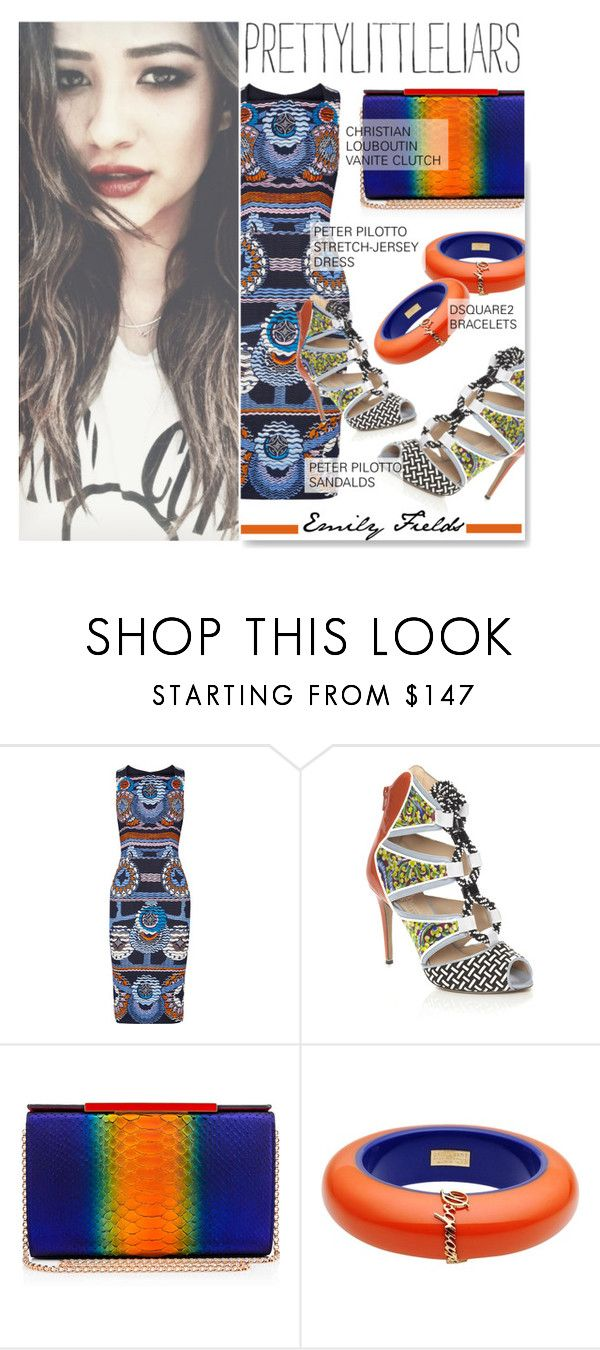 """TV Style: Pretty Little Liars"" by serepunky ❤ liked on Polyvore featuring Peter Pilotto, Christian Louboutin, Dsquared2, women's clothing, women's fashion, women, female, woman, misses and juniors"