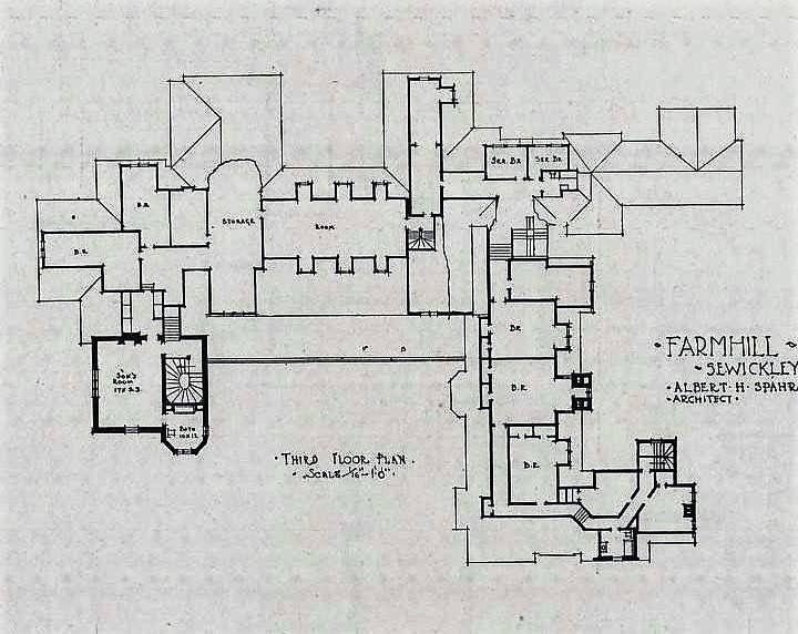 Farm Hill 3rd Floor Mansion Plans Mansion Floor Plan House Floor Plans