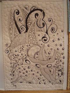 Jane Monk Studio - Longarm Machine Quilting & Teaching the Art of Zentangle®: Fabric Postcard Class