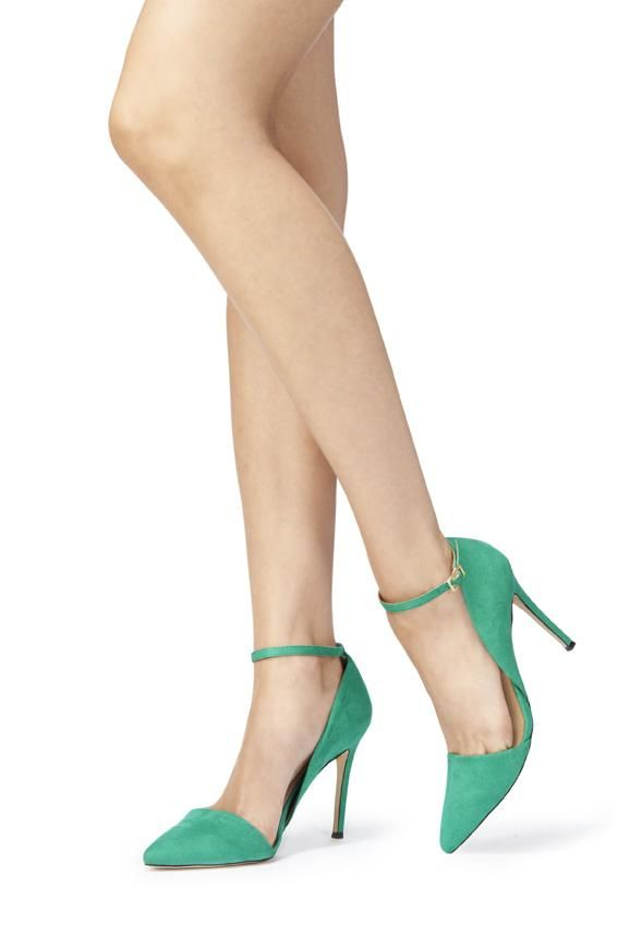 This almond-toe pump with sleek ankle strap will help you get ready on your day or night outing.