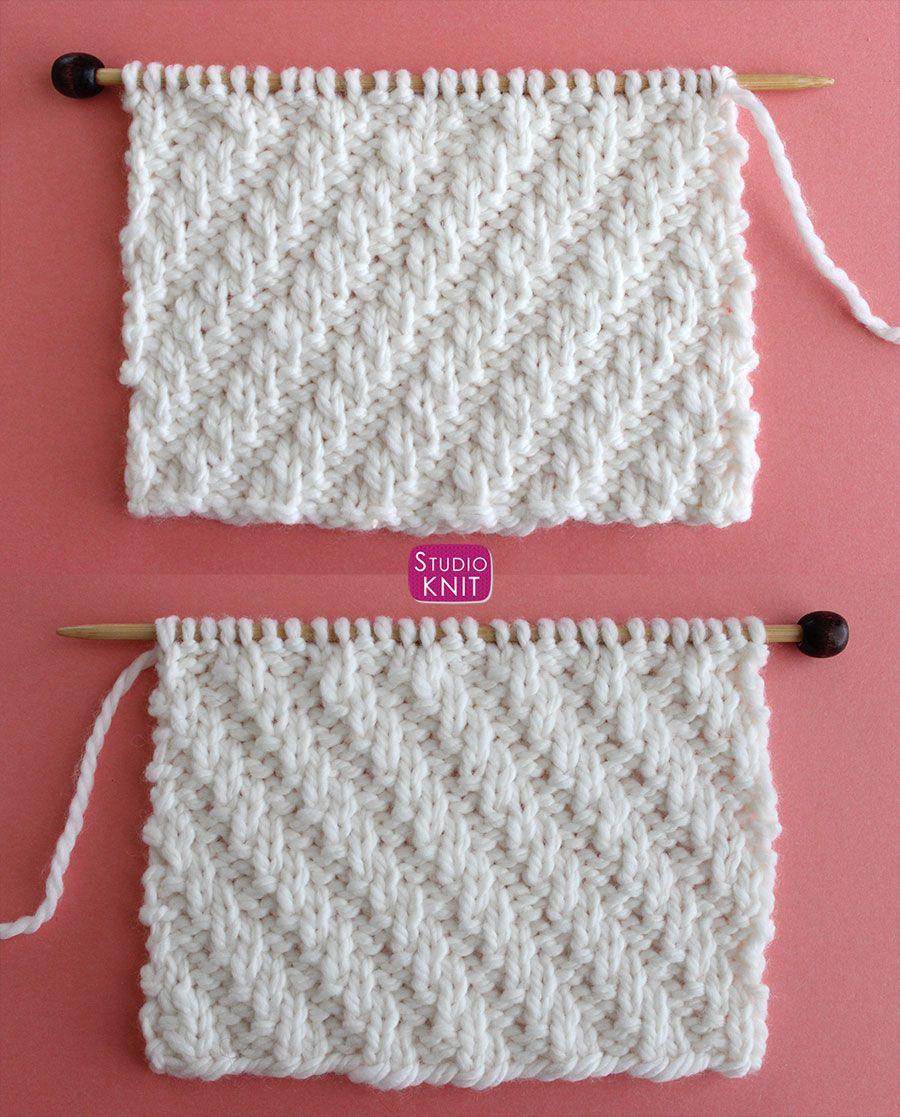 How to Knit the Diagonal Rib Knit Stitch Patter | Rib knit, Free ...