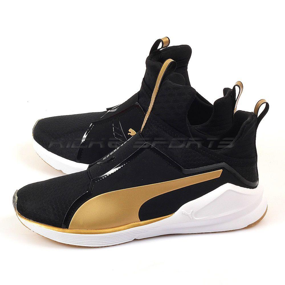 a654c4f202 Puma Fierce Gold Puma Black-Gold Kylie Jenner Fashion Training Shoes ...