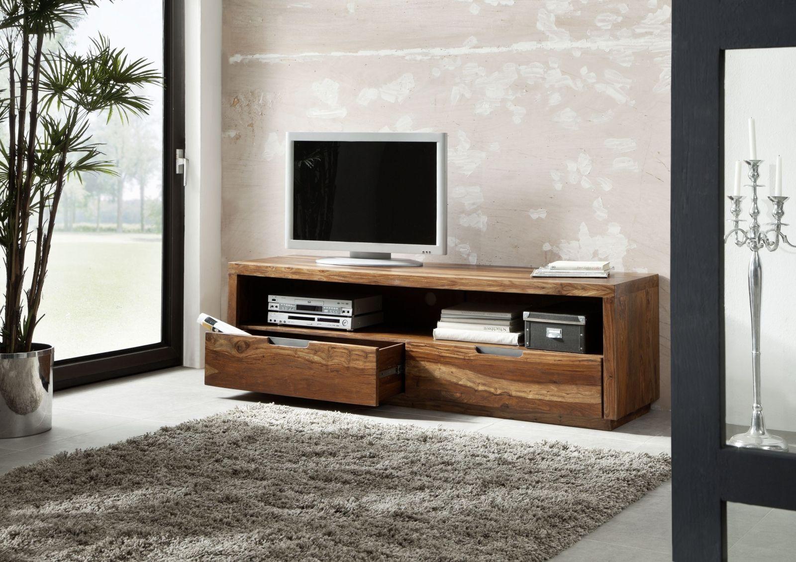 Wohnzimmermobel Eiche Modern Hifi Tv Rack Glas Fernsehschrank