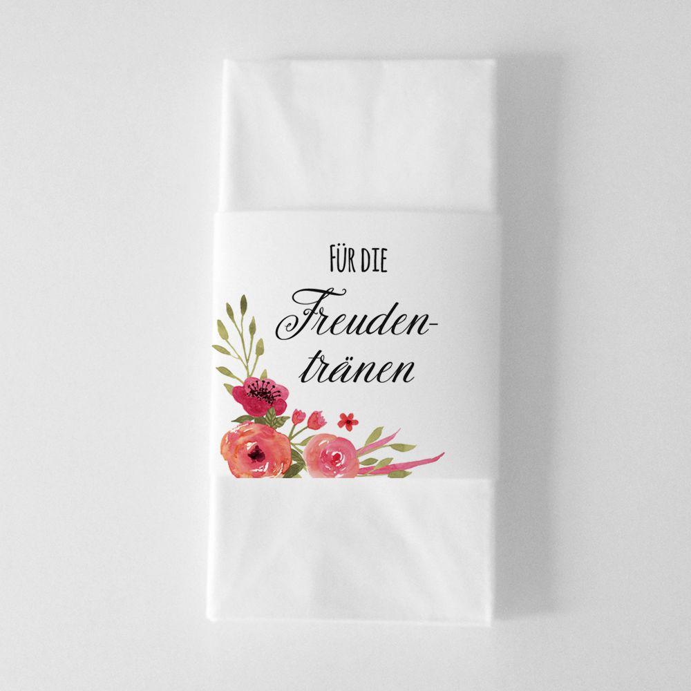 Kostenlose Vorlage Zum Ausdrucken Hochzeit Freudentraenen Taschentuchbanderolen Blumen Kostenlose Vorlagen Vorlagen Freude