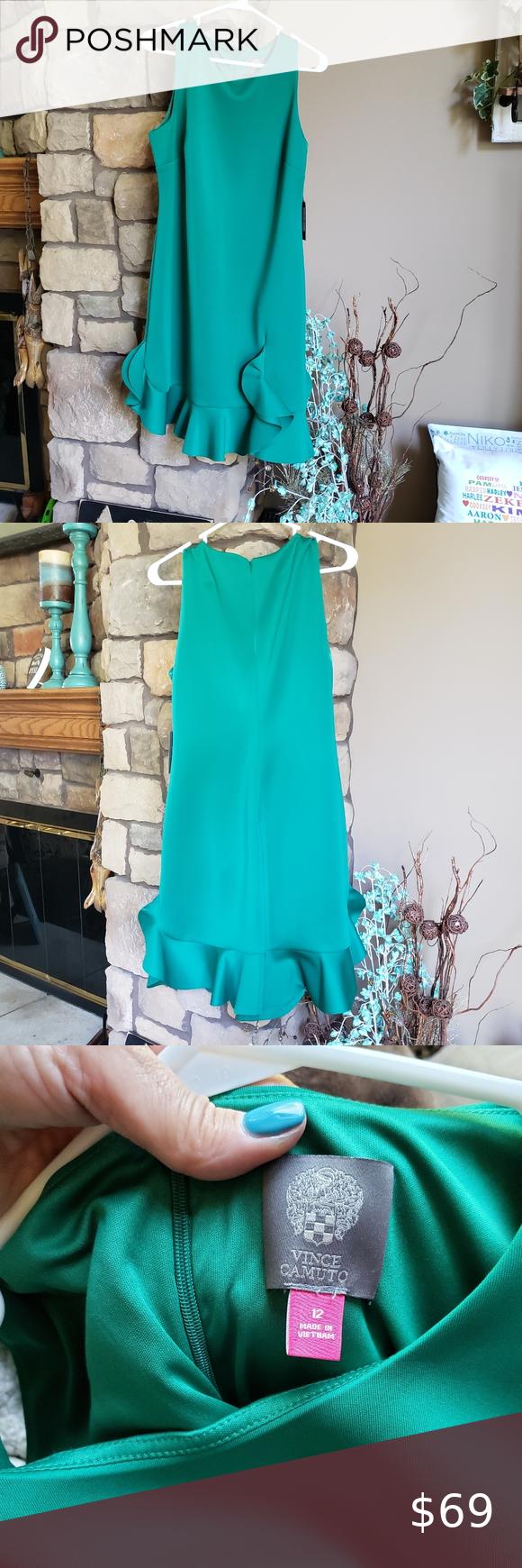 Vince Camuto Sz 12 Gorgeous Green Dress Nwt Green Dress Clothes Design Colorful Dresses [ 1740 x 580 Pixel ]