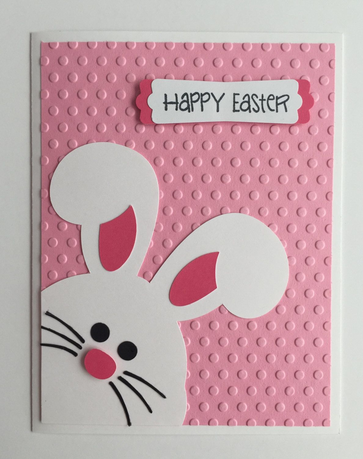 Handmade Easter Card Bunny Rabbit Happy Easter With Images