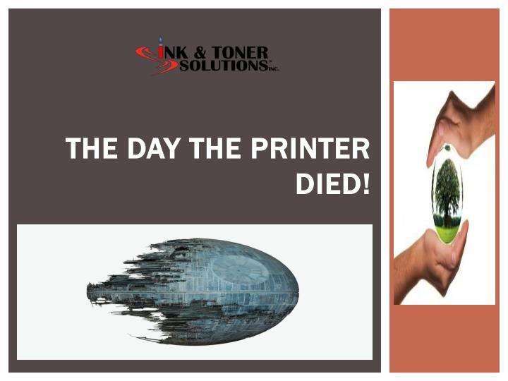The Day the Printer Died! - laser printer repair sample resume