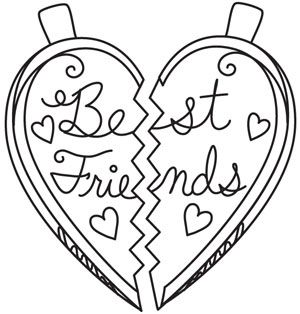 Best Friends Design Utzh1411 From Urbanthreads Com Heart Coloring Pages Quote Coloring Pages Valentine Coloring Pages