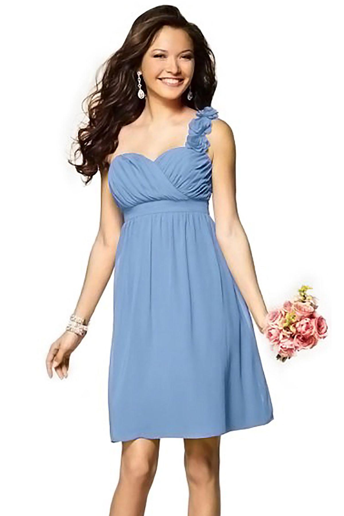 Light blue dress for wedding  Alfred Angelo  Bridesmaid Dress in Light blue in Chiffon  Dream