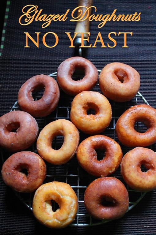 YUMMY TUMMY: Easy Glazed Doughnuts Recipe - How to Make Doughnuts without Yeast - Yeast Free Cake Doughnuts Recipe
