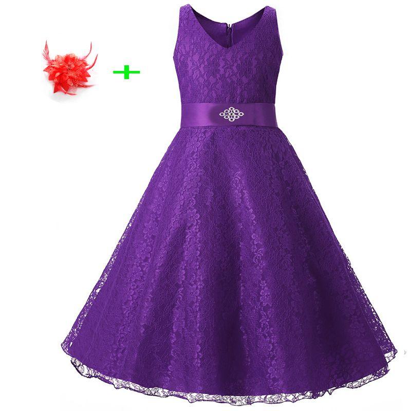 summer kid wedding party dress girl summer sleeveless evening dress ...