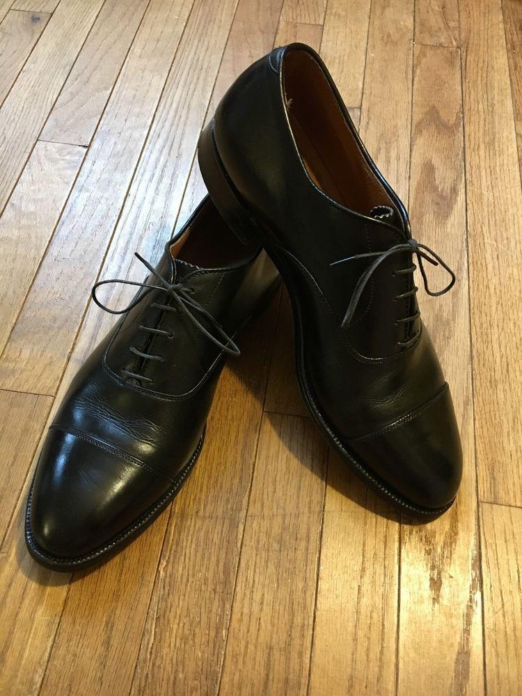 Alden Black Captoe Balmoral Oxford Dress Shoe 10a Calfskin Made In