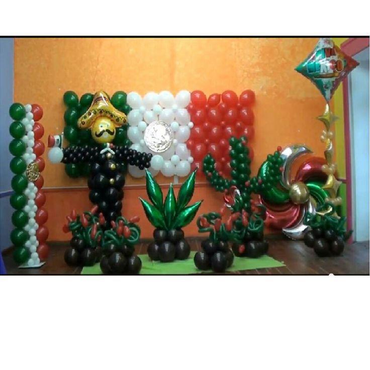 Decoraci n fiestas patrias 16 de septiembre m xico ely pinterest 16 de septiembre mexico for Decoracion kermes mexicana