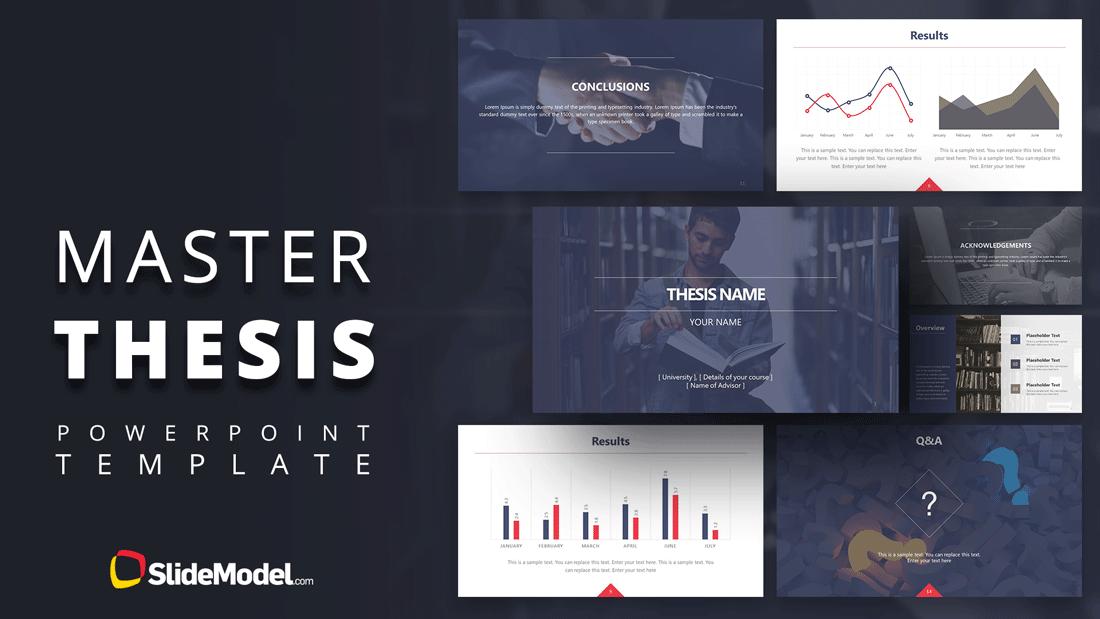 Master Thesi Powerpoint Template Slidemodel Thesis Dissertation Proposal Presentation