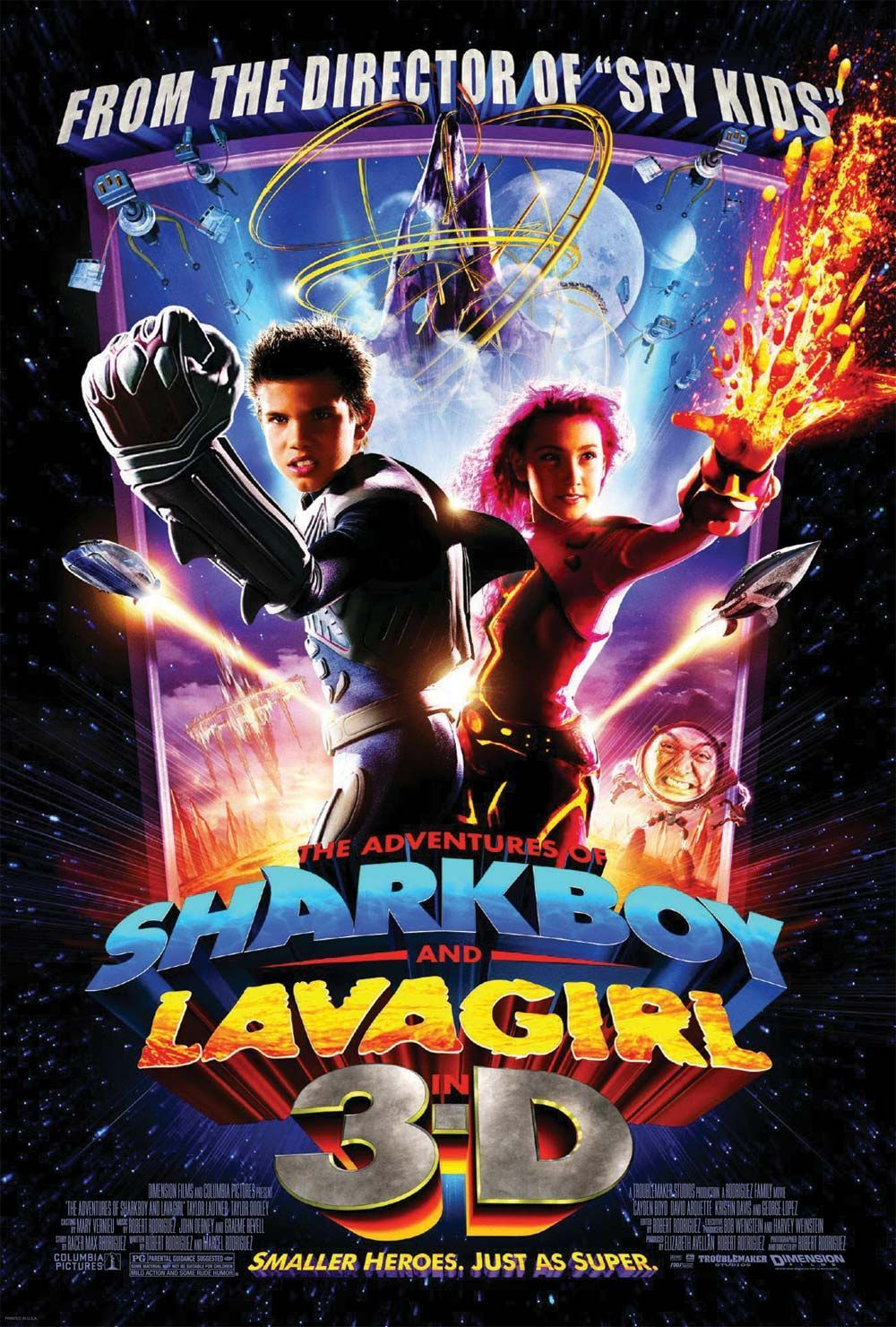 Extra Large Movie Poster Image For The Adventures Of Sharkboy And Lavagirl In 3 D Sharkboy And Lavagirl Spy Kids Movie Kids Movie Poster