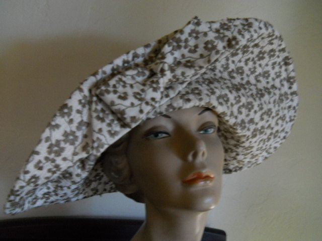 Cottage Chicl Kokin Quilted Ditsy Flower Wide Brim Garden Sun Etsy Hats Vintage Summer Hats Beautiful Hats