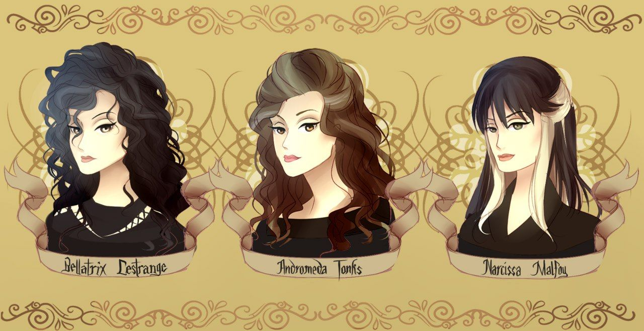 Bellatrix Lestrange Andromeda Tonks Narcissa Malfoy Harry Potter Artwork Harry Potter Prequel Harry Potter Fan